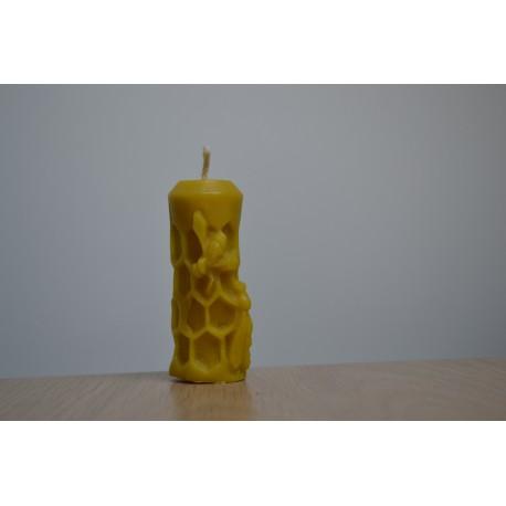 Świeczka , motyw pszczoły ,czysty wosk, Świece i inne,